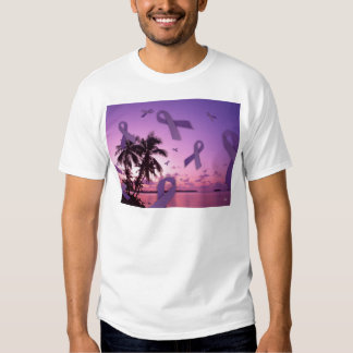Lupus Awareness Ribbons Float Through the Tropics Tshirts