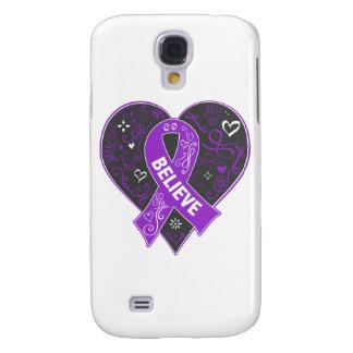 Lupus Believe Ribbon Heart Galaxy S4 Case