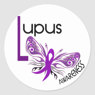Lupus BUTTERFLY 3.1 Classic Round Sticker