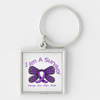 Lupus Butterfly I Am A Survivor Keychains