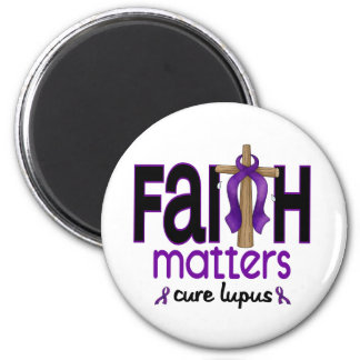 Lupus Faith Matters Cross 1 6 Cm Round Magnet