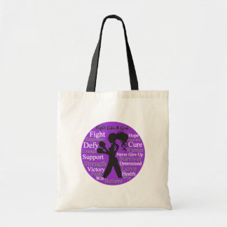 Lupus Fight Like A Girl Collage Tote Bag
