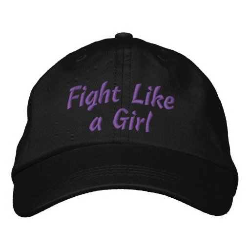 Lupus Fight Like a Girl Embroidered Baseball Caps