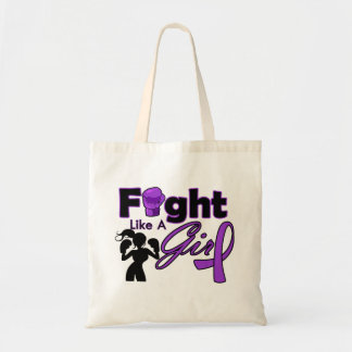 Lupus Fight Like A Girl Silhouette Budget Tote Bag