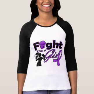 Lupus Fight Like A Girl Silhouette Tee Shirts
