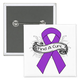 Lupus Find A Cure Ribbon Pinback Buttons