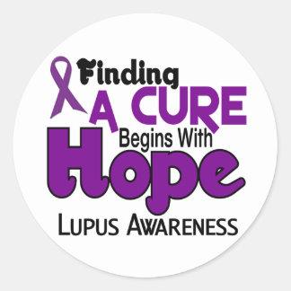 Lupus HOPE 5 Classic Round Sticker