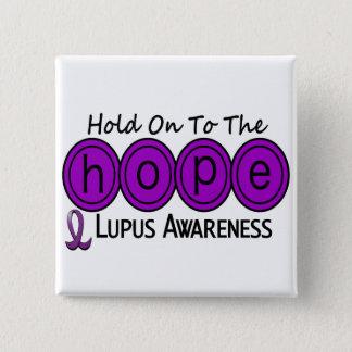 Lupus HOPE 6 15 Cm Square Badge