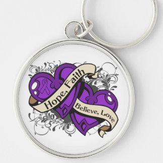 Lupus Hope Faith Dual Hearts Keychains