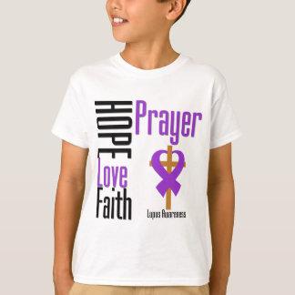 Lupus Hope Love Faith Prayer Cross T-shirts