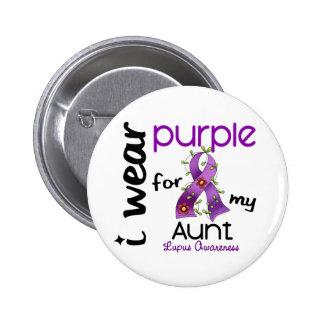 Lupus I WEAR PURPLE FOR MY AUNT 43 6 Cm Round Badge
