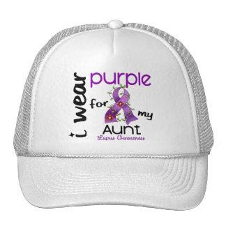 Lupus I WEAR PURPLE FOR MY AUNT 43 Mesh Hats