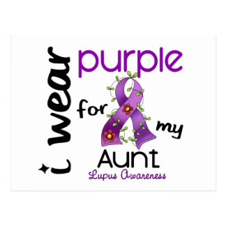Lupus I WEAR PURPLE FOR MY AUNT 43 Postcard