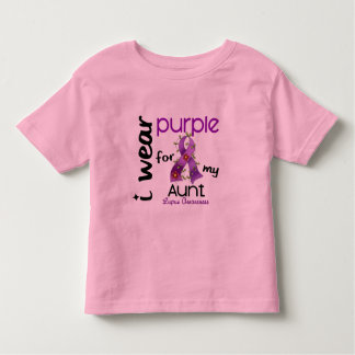 Lupus I WEAR PURPLE FOR MY AUNT 43 Toddler T-Shirt