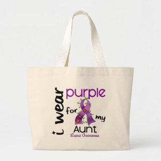 Lupus I WEAR PURPLE FOR MY AUNT 43 Tote Bag