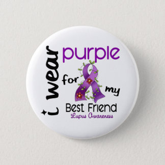 Lupus I WEAR PURPLE FOR MY BEST FRIEND 43 6 Cm Round Badge