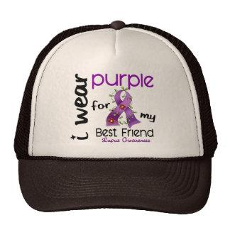 Lupus I WEAR PURPLE FOR MY BEST FRIEND 43 Trucker Hats