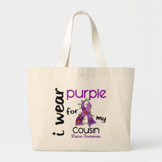 Lupus I WEAR PURPLE FOR MY COUSIN 43 Tote Bag