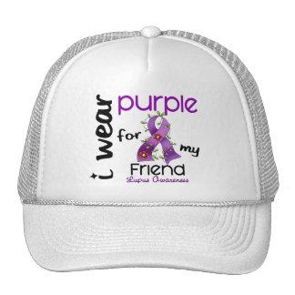 Lupus I WEAR PURPLE FOR MY FRIEND 43 Mesh Hat