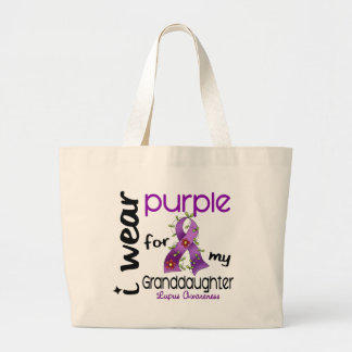 Lupus I WEAR PURPLE FOR MY GRANDDAUGHTER 43 Jumbo Tote Bag