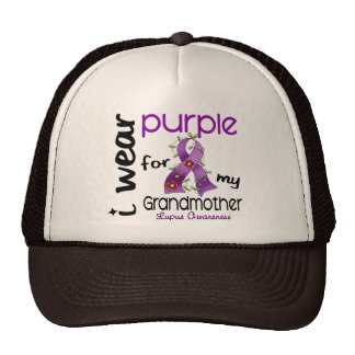 Lupus I WEAR PURPLE FOR MY GRANDMOTHER 43 Hats