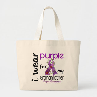Lupus I WEAR PURPLE FOR MY GRANDMOTHER 43 Jumbo Tote Bag