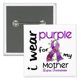 Lupus I WEAR PURPLE FOR MY MOTHER 43 15 Cm Square Badge