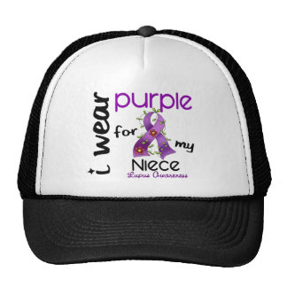 Lupus I WEAR PURPLE FOR MY NIECE 43 Mesh Hats