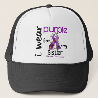 Lupus I WEAR PURPLE FOR MY SISTER 43 Trucker Hat