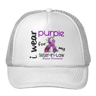 Lupus I WEAR PURPLE FOR MY SISTER-IN-LAW 43 Trucker Hats
