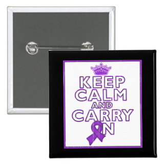 Lupus Keep Calm and Carry ON Pinback Buttons