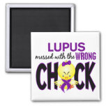Lupus Messed With The Wrong Chick Refrigerator Magnet