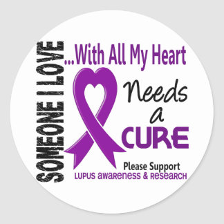 Lupus Needs A Cure 3 Classic Round Sticker