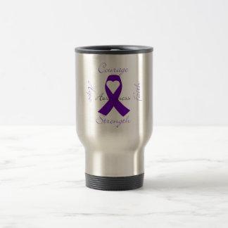 Lupus Pancreatic Thyroid purple ribbon awareness Travel Mug