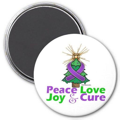Lupus Peace Love Joy Cure Fridge Magnets