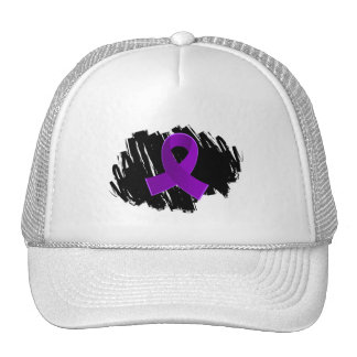 Lupus Purple Ribbon With Scribble Trucker Hat