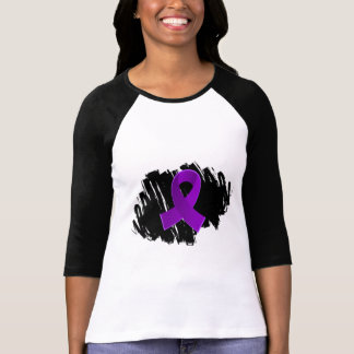 Lupus Purple Ribbon With Scribble Tee Shirts