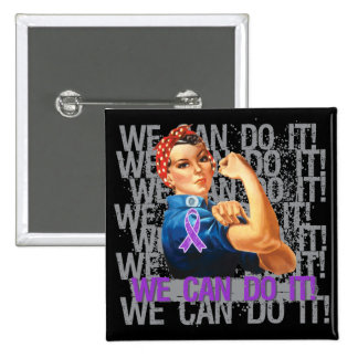 Lupus Rosie WE CAN DO IT Button