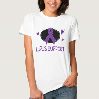 Lupus Support Purple Ribbon Womens Tee
