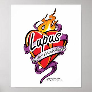 Lupus Tattoo Heart Print