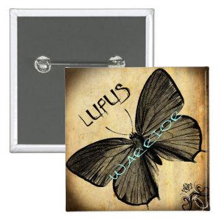 lupus warrior pinback button