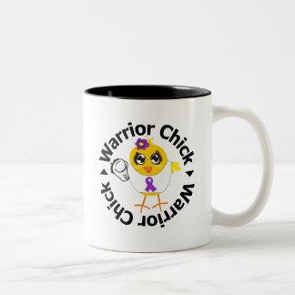 Lupus Warrior Chick Mugs