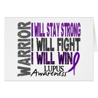 Lupus Warrior Greeting Card