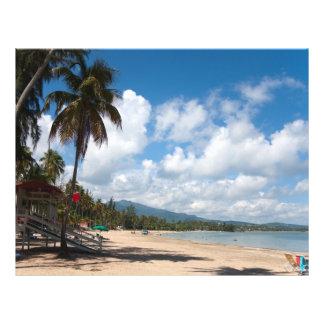 Luquillo Beach Puerto Rico 21.5 Cm X 28 Cm Flyer