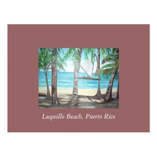 Luquillo Beach, Puerto Rico Postcard