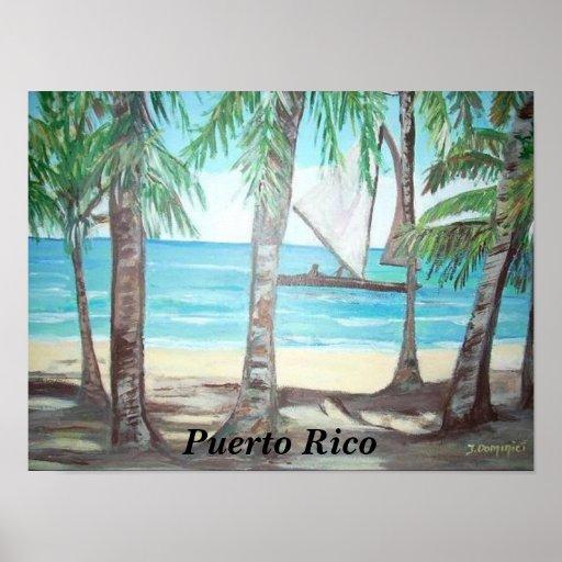 Luquillo Beach, Puerto Rico Poster