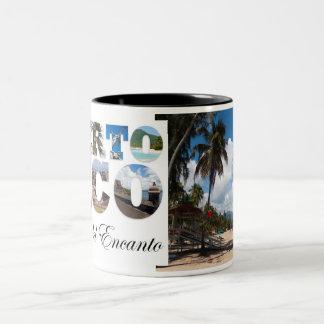Luquillo Beach Puerto Rico Two-Tone Coffee Mug