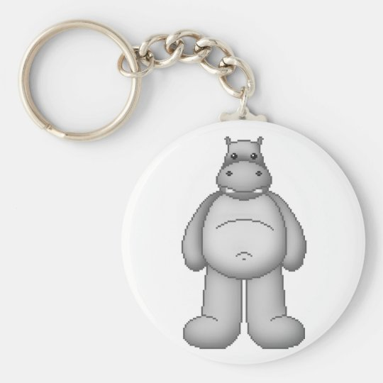 Lura's Critter Plump Hippo Key Ring