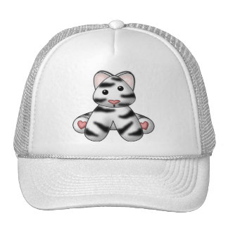 Lura's Stuffed White Tiger Hats
