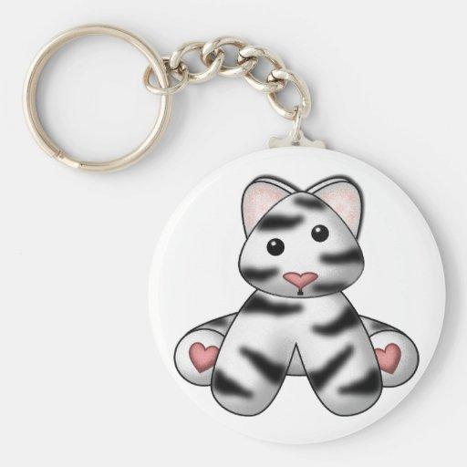 Lura's Stuffed White Tiger Keychain